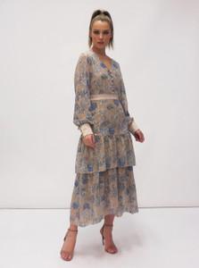 Fee G Print Dress Lurex