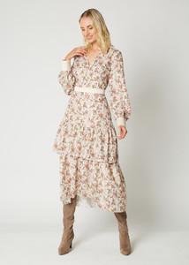 Fee G Print Lurex Dress