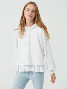 Sportmax Code Layered Pleat Cotton Sweatshirt