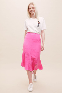 Essentiel Antwerp Polka-Dot Silk Midi Skirt