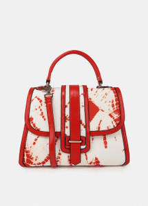 Essentiel Antwerp red and white tie-dye bag