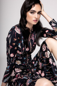 Caroline Kilkenny Mira Dress Flower Print   Anastasia