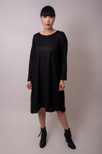 Transit Black Chiffon Dress