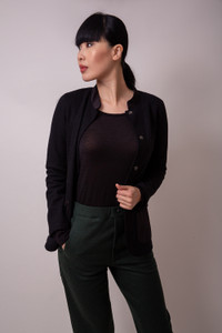 Transit Par Such black jacket with front pockets