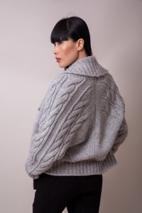 Transit par Such Chunky Knit Cardigan Grey
