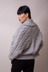 Transit par Such Chunky Knit Cardigan Grey