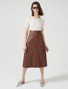 Sportmax Code Gerusia Leather Skirt