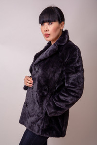 Hartford Fake Fur Vlap Coat | Anastasia Boutique