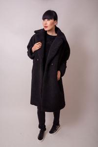 Hartford Fake Fur Black Coat