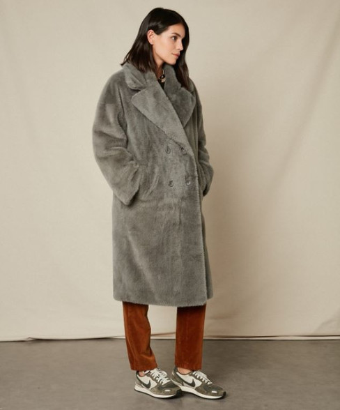 Hartford Fake Fur Vaderi Coat | Anastasia Boutique