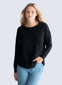 Majestic Filatures Black Sweatshirt
