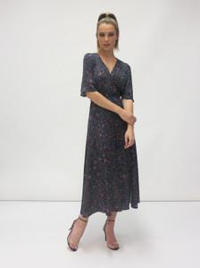 Fee G Wrap Bodice Fleck Dress