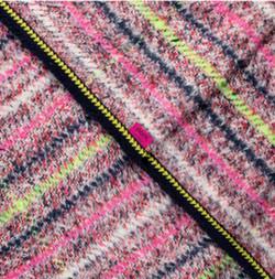 Pom Amsterdam Shawl Furry Swirl Pink