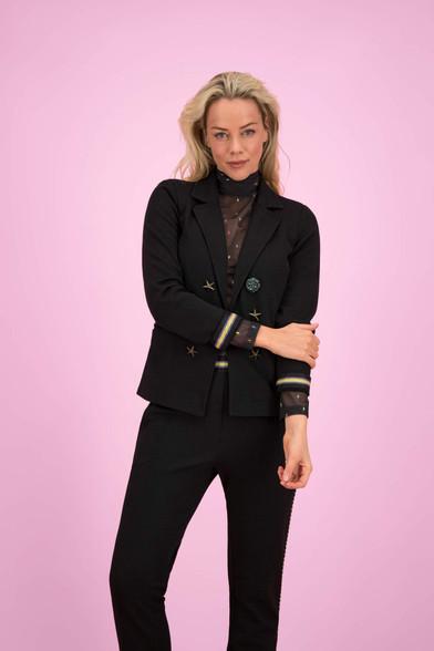 Pom Amsterdam Black Night Blazer | Anastasia