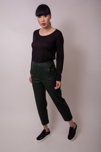 Transit Large Pocket Trousers Dark Green