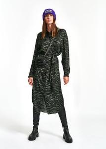 Essentiel Antwerp Weapon Shirt Dress Khaki Zebra | Anastasia