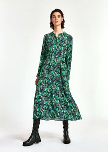 Essentiel Antwerp Wineglass Shirt Dress Green | Anastasia