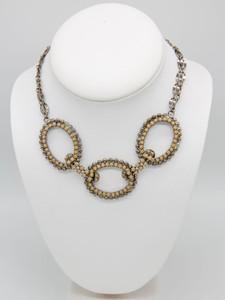 Pat Whyte Beige 3 Hoop Necklace