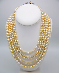 Pat Whyte 5 Strand Pearl Necklace
