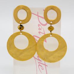 Pat Whyte Gold Hoop Earrings