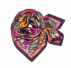 Debbie Millington Eagles Orange Silk Scarf