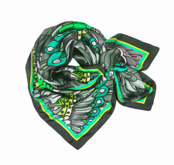 Debbie Millington Eagles Green Silk Scarf