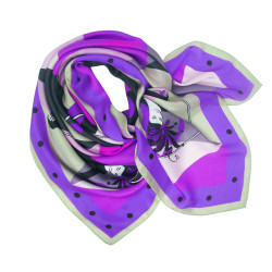 Debbie Millington Harlequin Purple Silk Scarf