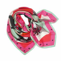 Debbie Millington Harlequin Pink Silk Scarf