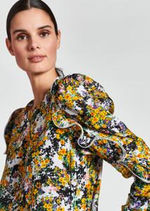Essentiel Antwerp Ruffled floral-print top
