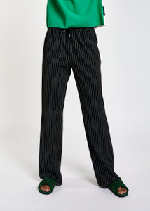 Essentiel Antwerp Black Pinstripe Pants