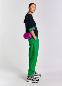 Essentiel Antwerp Green Loose Fit Trousers
