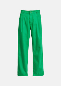 Essentiel Antwerp Green Loose Fit Trousers