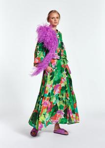 Essentiel Antwerp Green Floral Maxi Dress