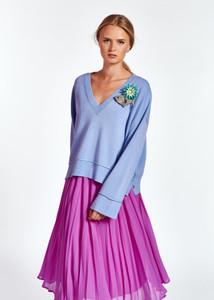 Essentiel Antwerp Boxy Pale Blue Pullover