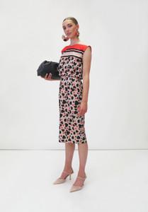 Fee G Sleeveless Multi Print Midi Dress