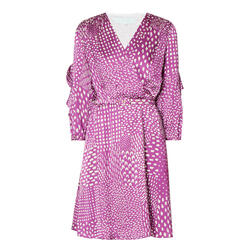 Caroline Kilkenny Purple Dot Dress