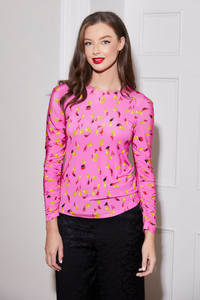 Caroline Kilkenny Pink Jersey Top