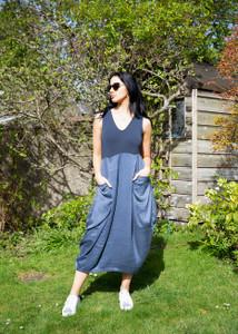 Transit Par Such Midi Dress Blue