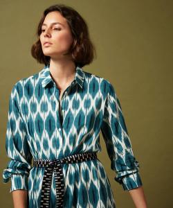 Hartford Blue Ikat Maxi Dress