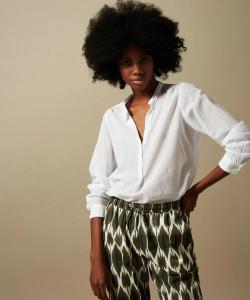 Hartford White Cotton Shirt