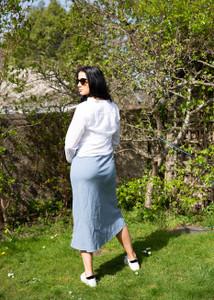 Hartford Jima Midi Linen Skirt