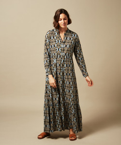 Hartford Riad Long Sleeve Print Dress