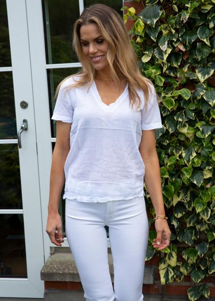 Hartford White Cotton T-Shirt