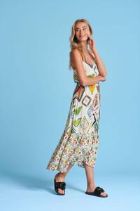 POM Amsterdam Nature's Mosaic Long Dress