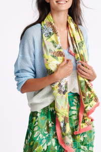 POM Amsterdam Jungle Print Yellow Scarf