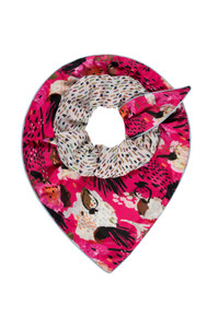 POM Amsterdam Double Sided Pink Scarf