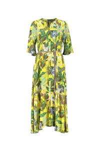POM Amsterdam Yellow Midi Dress