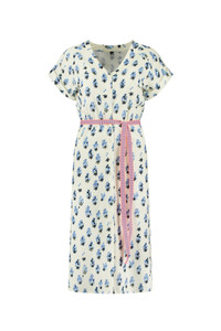 POM Amsterdam Midi Print Dress White
