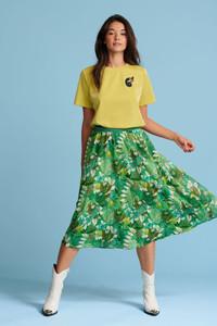 POM Amsterdam Green Midi Skirt