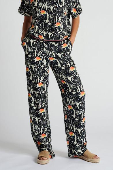 POM Amsterdam Roses Midnight Print Pants